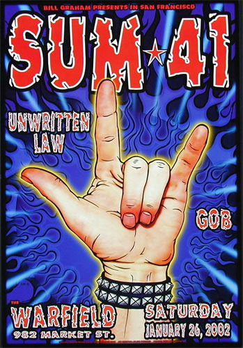 SUM 41 Bill Graham Presents Poster BGP275