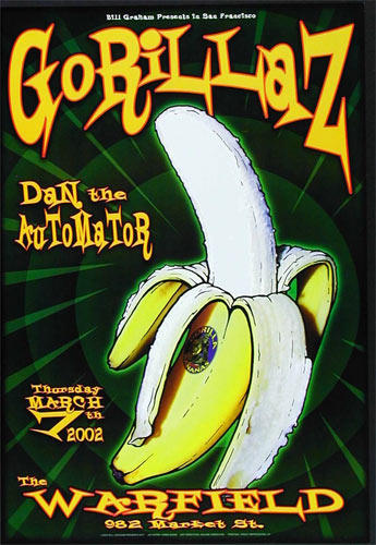 Gorillaz Bill Graham Presents Poster BGP277