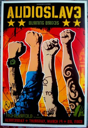 Audioslave Bill Graham Presents Poster BGP298