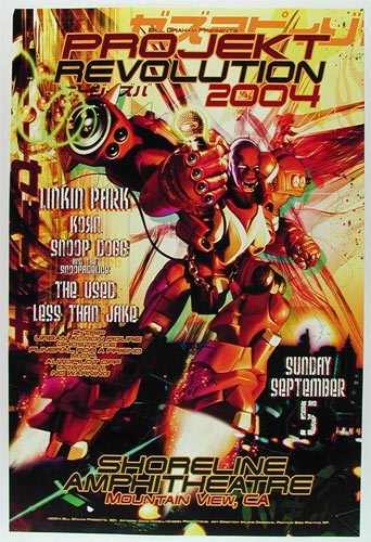 Projekt Revolution 2004 - Linkin Park Bill Graham Presents Poster BGP321