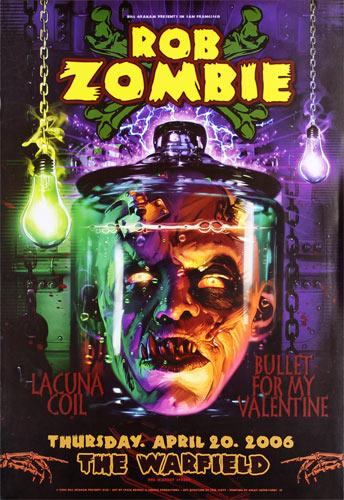 Rob Zombie Bill Graham Presents Poster BGP338