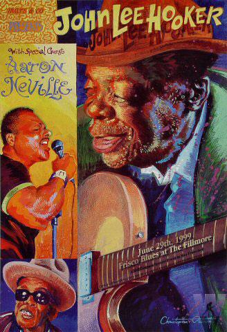 John Lee Hooker Bill Graham Special Events Poster BGSE18