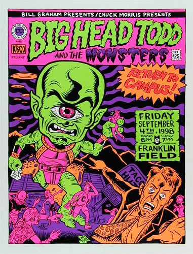 Ward Sutton Big Head Todd and the Monsters Franklin Field Poster