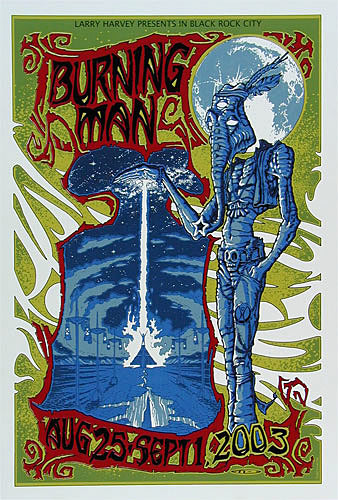 Todd Lovering Burning Man 2003 Poster