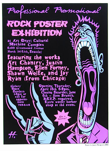 Justin Hampton Rock Poster Exhibition Poster