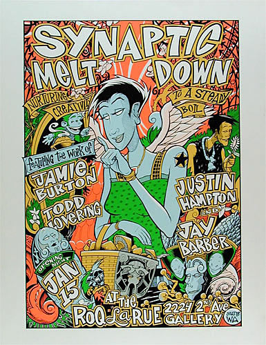Jamie Burton Synaptic Meltdown Poster