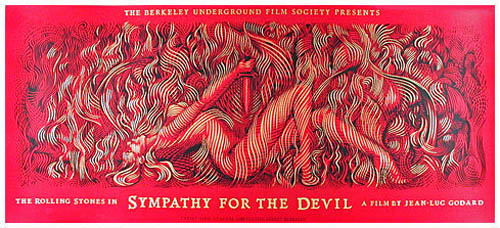 John Seabury Jean-Luc Godard Rolling Stones Sympathy For The Devil Movie Poster
