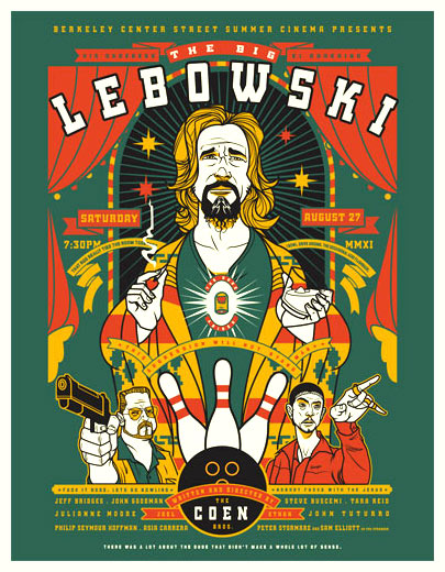 Scrojo The Big Lebowski Movie Poster