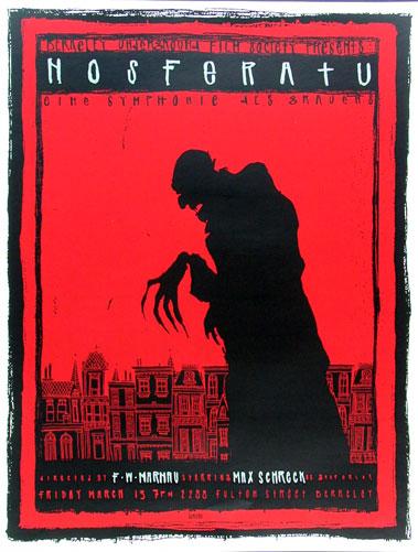Scrojo F.W. Murnau Max Schreck Nosferatu Movie Poster