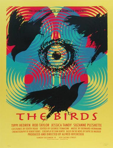 Alien Corset - David O'Daniel Alfred Hitchcock The Birds Movie Poster