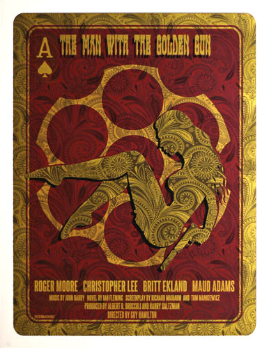 Alien Corset - David O'Daniel James Bond 007 - The Man With The Golden Gun Movie Poster
