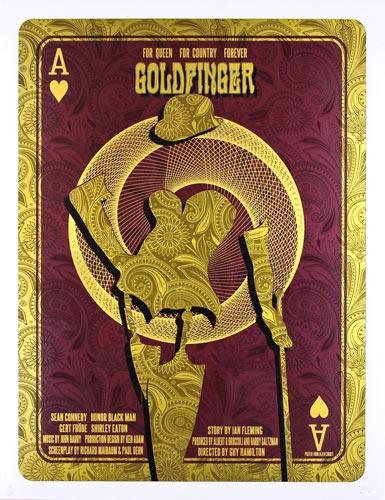 Alien Corset James Bond 007 - Goldfinger Movie Poster