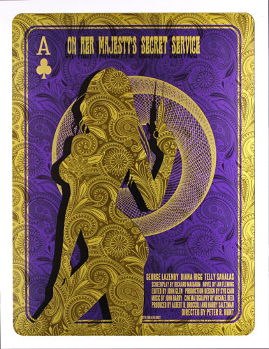 Alien Corset James Bond 007 - On Her Majesty's Secret Service Movie Poster