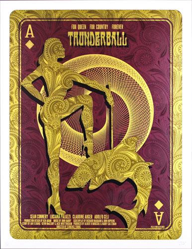 Alien Corset James Bond 007 - Thunderball Movie Poster