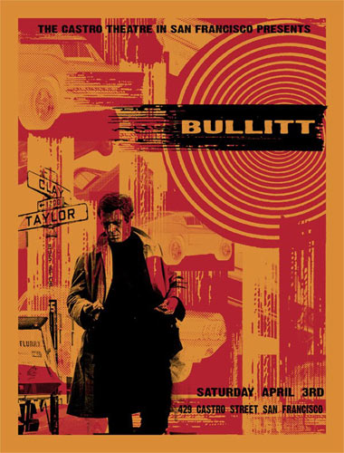 Steve McQueen Bullitt Silkscreen Movie Poster | eBay