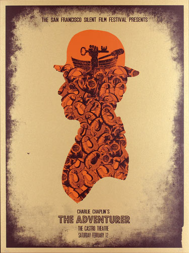 Alien Corset - David O'Daniel Charlie Chaplin - The Adventurer Movie Poster