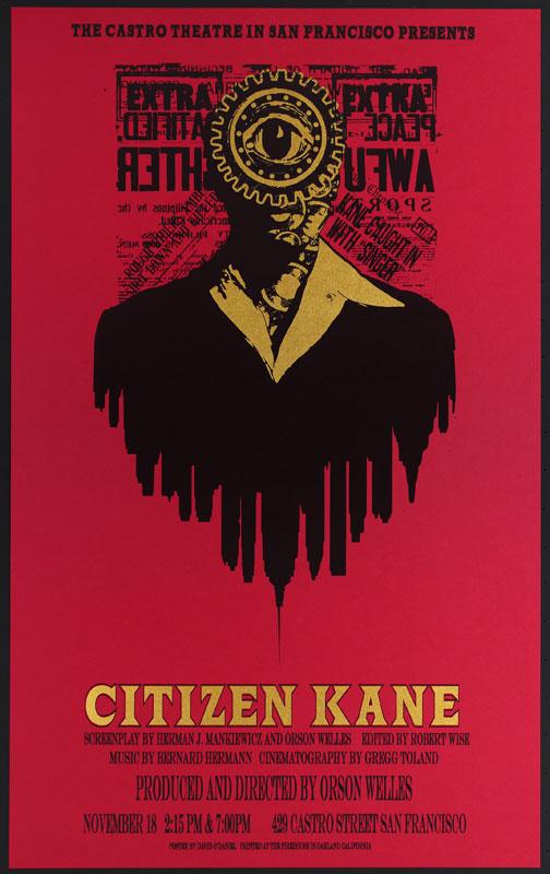 Alien Corset - David O'Daniel Orson Wells Citizen Kane Movie Poster