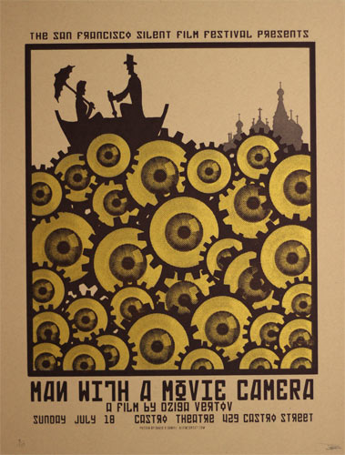 Alien Corset Man With A Movie Camera Movie Poster