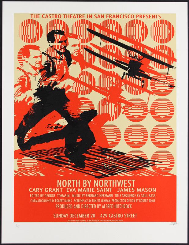 Alien Corset - David O'Daniel Alfred Hitchcock North By Northwest Movie Poster
