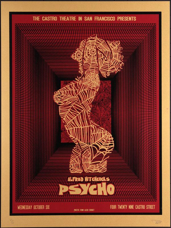 Alien Corset - David O'Daniel Alfred Hitchcock Psycho Movie Poster