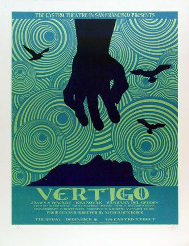 Alfred Hitchcock Vertigo Movie Poster