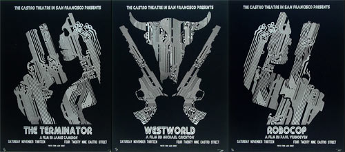 The Terminator, Westworld, Robocop Set of 3 Movie Posters