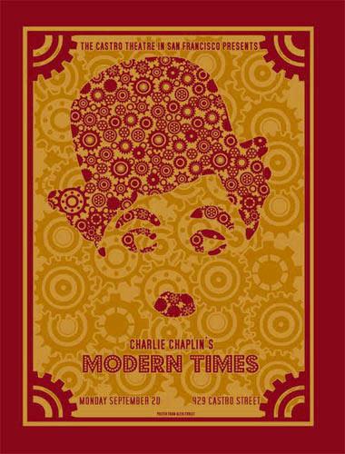 Charlie Chaplin Modern Times Movie Poster