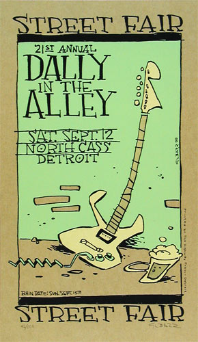 Glenn Barr Dally In The Alley Street Fair Poster