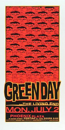 Glenn Barr Green Day Poster