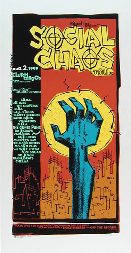 Glenn Barr Social Chaos Tour Poster