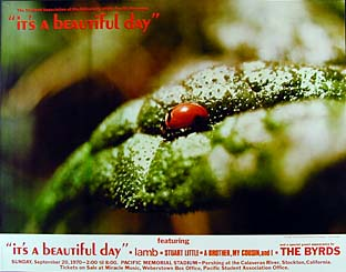 It's A Beautiful Day Byrds Concert Poster