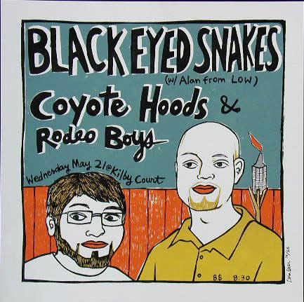 Leia Bell Black Eyed Snakes Poster