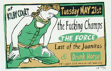 Leia Bell The Fucking Champs Poster
