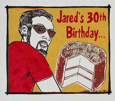 Leia Bell Jareds 30th Birthday Poster