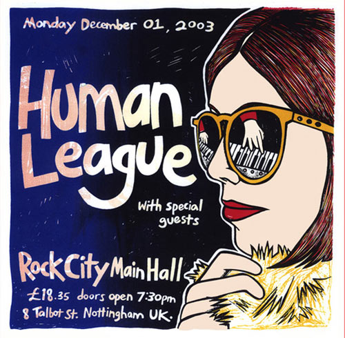 Leia Bell Human League Poster