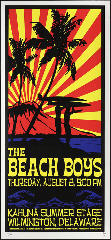 Scott Benge (FGX) Beach Boys Handbill