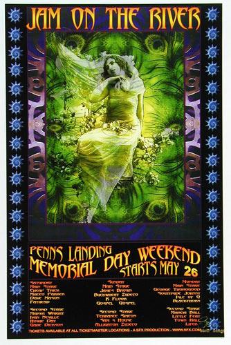 Scott Benge (FGX) Jam On The River Festival Poster