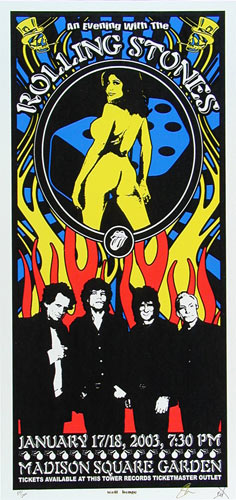 Scott Benge (FGX) Rolling Stones Poster