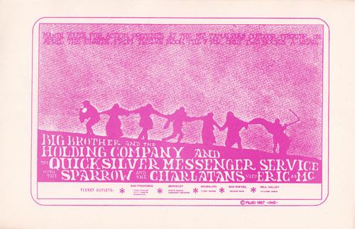 Rare 1967 Big Brother  Mt. Tamalpais Janis Joplin Handbill