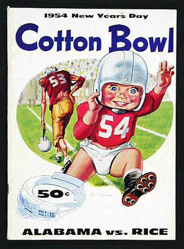 1954 Cotton Bowl Alabama vs Rice College Football Program