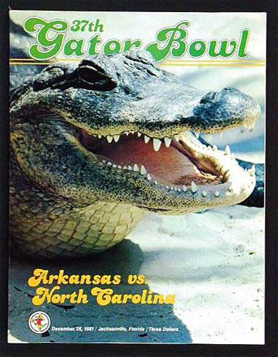 Gator Bowl 37 North Carolina vs Arkansas College Football Program
