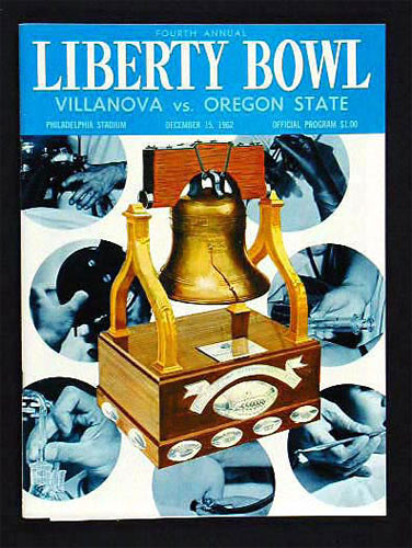 1962 Liberty Bowl Villanova vs Oregon State College Football Program