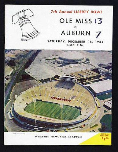 1965 Liberty Bowl Mississippi vs Auburn College Football Program