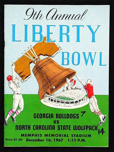 1967 Liberty Bowl Georgia vs North Carolina State College Football Program