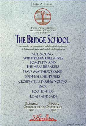 Neil Young Bridge School Benefit 14th Annual Poster