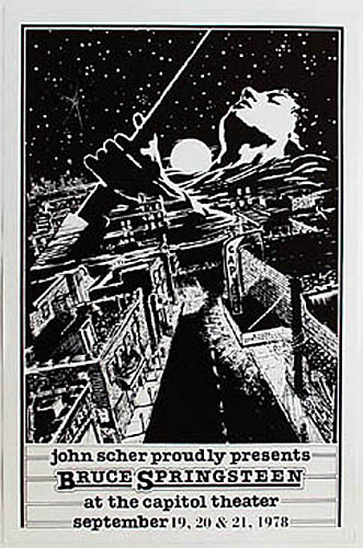 1978 Bruce Springsteen Capitol Theater Concert Poster