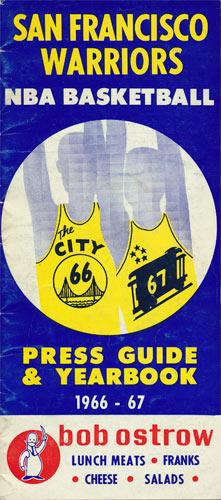 1966 - 1967 Warriors Basketball Media Guide