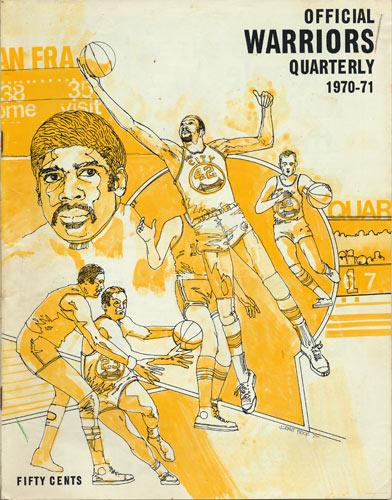 1970 - 1971 Warriors vs Lakers Basketball Program