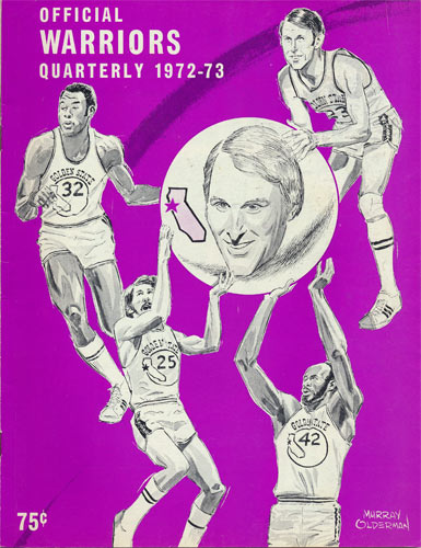 1972 - 1973 Warriors Basketball Program