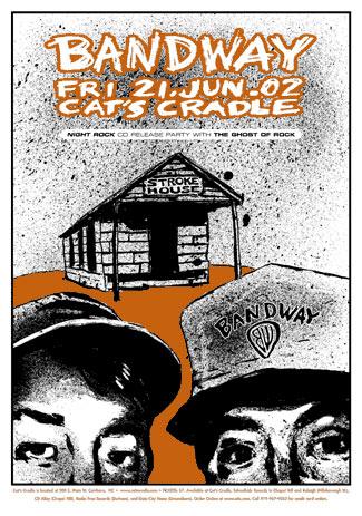 Casey Burns Bandway - Night Rock CD Release Poster